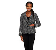 Joan Rivers Uptown Chic Boucle Jacket w/ Long Sleeves - A258926