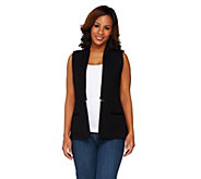 Styled by Joe Zee Open Front Boyfriend Woven Vest - A262726
