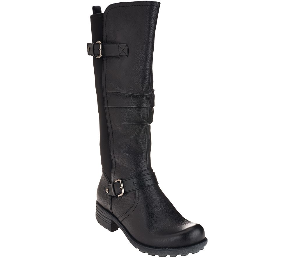 Earth Origins Leather Wide Calf Boots - Penelope - Page 1 — QVC.com