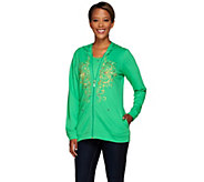 Quacker Factory Golden Embroidered Jacket and T-shirt Set - A268426