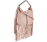 As Is G.I.L.I. Mini Double Zip Fringe Hobo - A270126