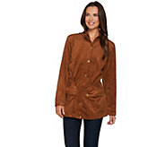 Linea By Louis DellOlio Faux Suede Anorak - A279526