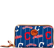 Dooney & Bourke MLB Nylon Indians Zip Around Phone Wristlet - A281726