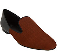 As Is LOGO by Lori Goldstein Two-Toned Slip-On Loafers - A282226