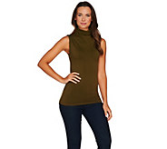 skinnytees Turtle Neck Seamless Layering Tank Top - A283326