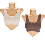 AnyBody Seamless Lounge Bra with Removable Pads Set of Two - A287026