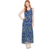 C. Wonder Petite Botanical Floral Print Maxi Dress - A288826