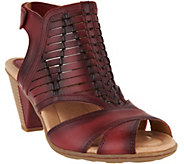 Earth Leather Peep-toe Sandals - Libra - A289326