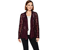 As Is Belle by Kim Gravel Open Front Lace Motorcycle Jacket - A291426