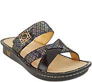 Alegria Leather Multi-Strap Slide Sandals - Victoriah - A304026
