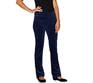 As Is Denim & Co. Petite How Smooth Strch Corduroy Pull-on Pants - A305326