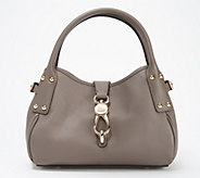 Dooney & Bourke Belvedere Leather Small Logo Lock Satchel - A308726