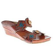 Spring Step Sesame Leather Slide Sandals - A323326