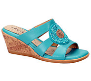 Softspots Laurie Leather Wedge Slide Sandals - A332326