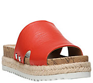 Franco Sarto Platform Leather Slide Sandals - Elina - A357326