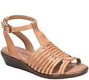 Comfortiva Ankle Strap Huarache Sandals  - Farina - A412726