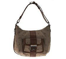 Judith Ripka Jacquard Shoulder Bag w/ Front Lock Pocket