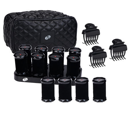 T3 Set of 12 Small or Medium Hot Rollers w/ Clips & Bag