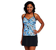 Fit 4 U Ds & Es Garden Pop H-Back Tankini with Skirtini - A231127
