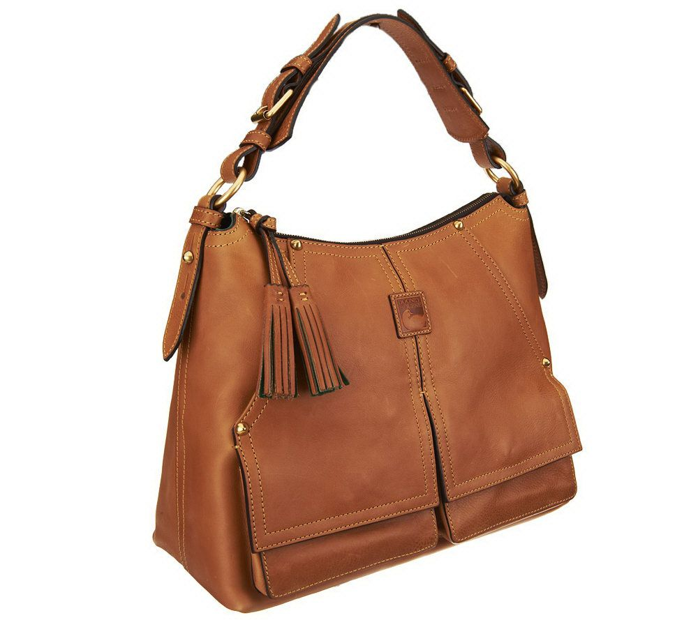 Dooney & Bourke Florentine Leather Kingston Hobo - Page 1 — QVC.com