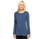 Linea by Louis DellOlio Posh Knit Jewel Neck Sweater - A238527
