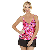 Ocean Dream Signature Fresh Petals Tiered Tankini Swimsuit - A252527