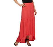 G.I.L.I. Petite Hi-Low Hem Woven Skirt - A252727