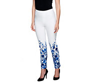 Isaac Mizrahi Live! 24/7 Stretch Floral Print Ankle Pants - A254327
