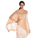 Joan Rivers Sequin Chiffon Capelet Top - A254627