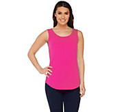 Susan Graver Essential Cotton Modal Scoop Neck Tank - A265027