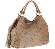 As Is G.I.L.I. Leather Large Roma Tote - A266927