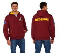 NFL Team Color Sherpa Lined Zip Up Hoodie