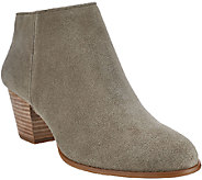 Sole Society Leather or Suede Stacked Heel Ankle Boots - Skye - A268427