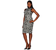 G.I.L.I. Novelty Lace Sweater Knit Sleeveless Sheath Dress - A268527