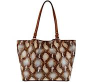 Dooney & Bourke City Python-Embossed Leather Flynn Shoulder Bag - A272227