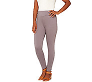 As Is LOGO by Lori Goldstein Pull-On Knit Twill Crop Pants - A273227