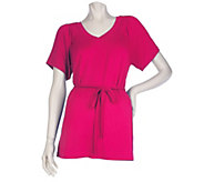 As Is Motto V-neck Smocked Top with Braided Belt - A277027
