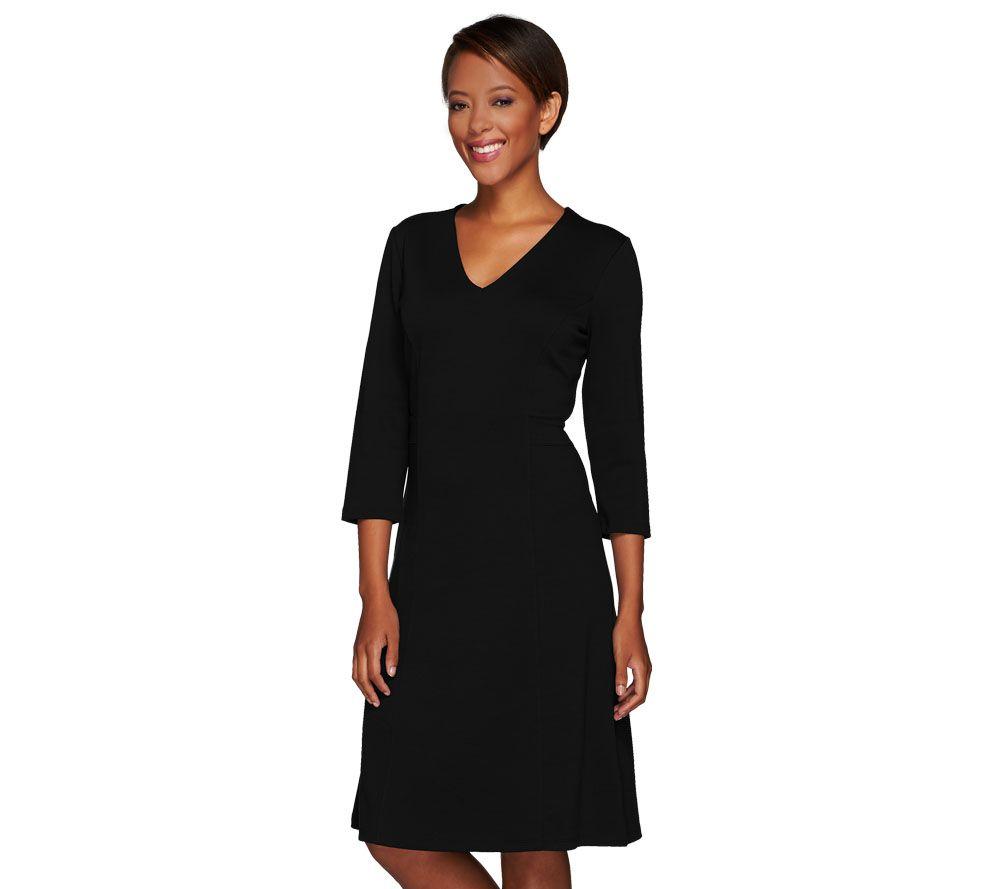 As is liz claiborne new york v neck ponte knit dress for Liz claiborne v neck t shirts