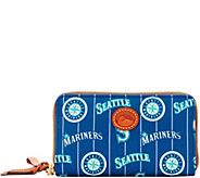 Dooney & Bourke MLB Nylon Mariners Zip Around Phone Wristlet - A281727