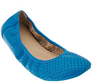 As Is Adam Tucker Leather Perforated Ballet Flats - Napa - A283527