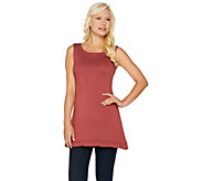 LOGO Layers by Lori Goldstein Knit Tank with Ruffle Hem - A284927
