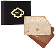 orYANY Pebble Leather Metallic RFID Credit Card Holder-Liam - A286027