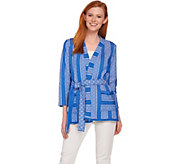 C. Wonder Kimono Style Knit Jacket with Fringe Detail - A287627