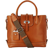 As Is Dooney & Bourke Florentine Toscana Side Zip Satchel - A290627