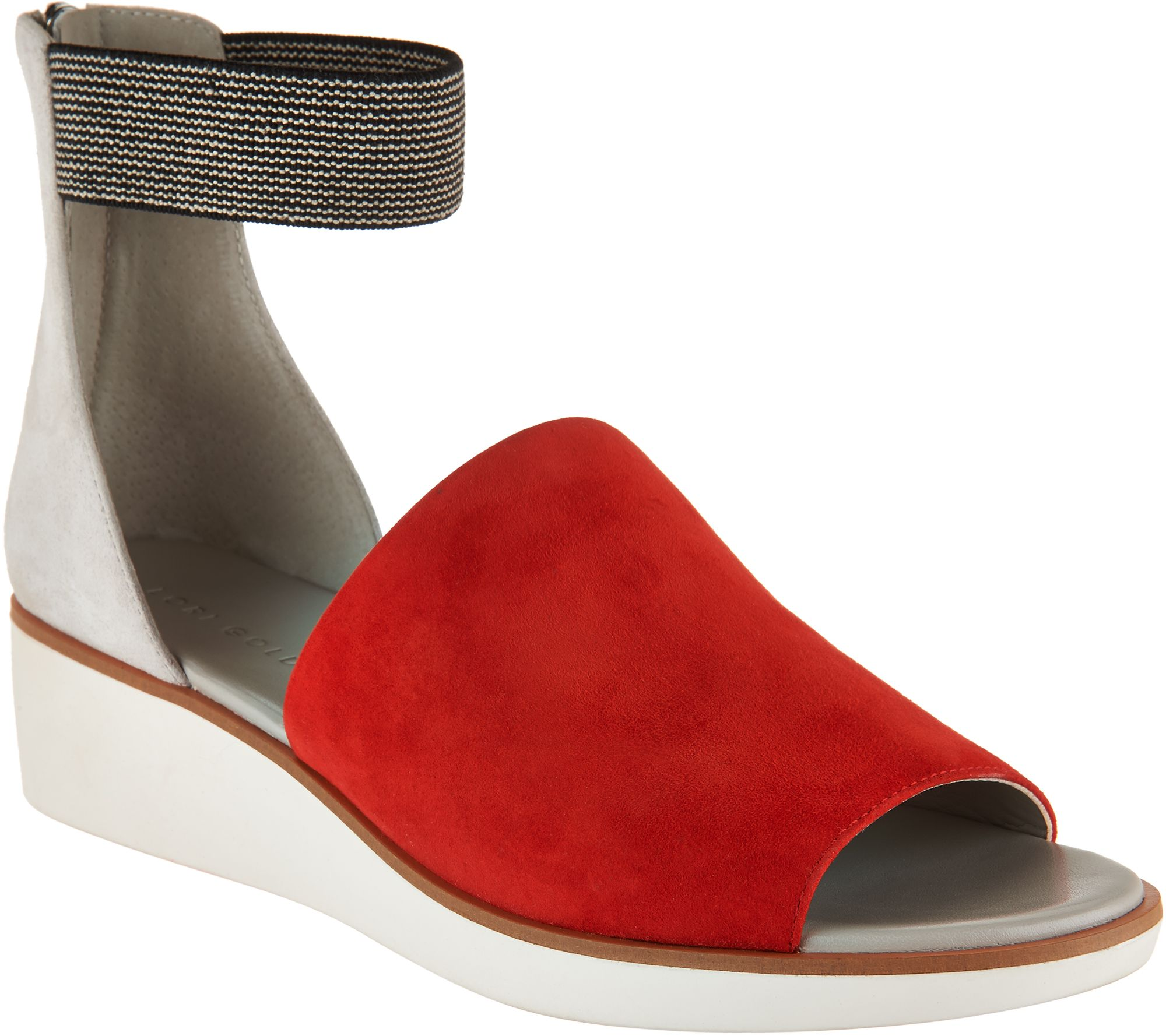 designer heels with red soles 0bgd  Lori Goldstein Collection Zip Back Sandals with Elastic Strap