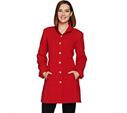 As Is Linea by Louis Dell Olio Coat with Hammered Buttons - A293127