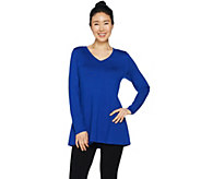 Susan Graver Modern Essentials Rayon Nylon A-Line Sweater - A293627