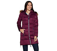 Nuage Womens Stretch Zip Front Puffer Jacket - A296127