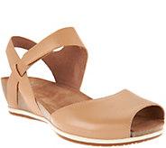 As Is Dansko Leather Peep-toe Sandals - Vera - A296927