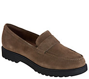 Clarks Artisan Suede Cleated Loafers - Bellevue Hazen - A299827